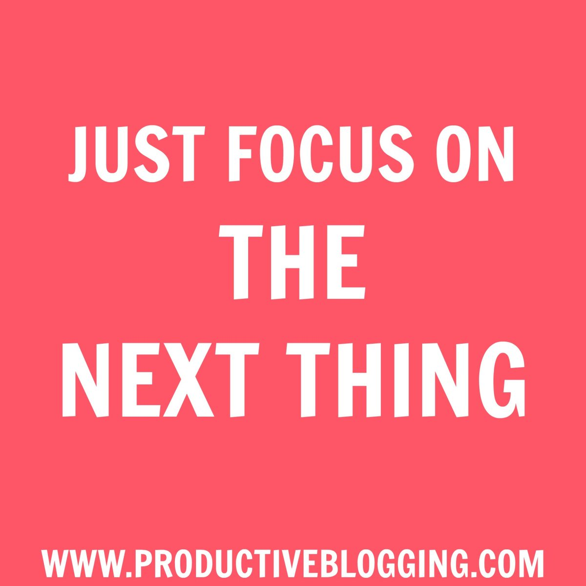 It's so easy to stress and worry about #allthethings  STOP!!!   Write down all the things  Then decide what you actually NEED to do today/this week  Then just focus on #thenextthing  #productivityhacks #productivitytips #productivityhabits #productiveblogging #mondaymotivation