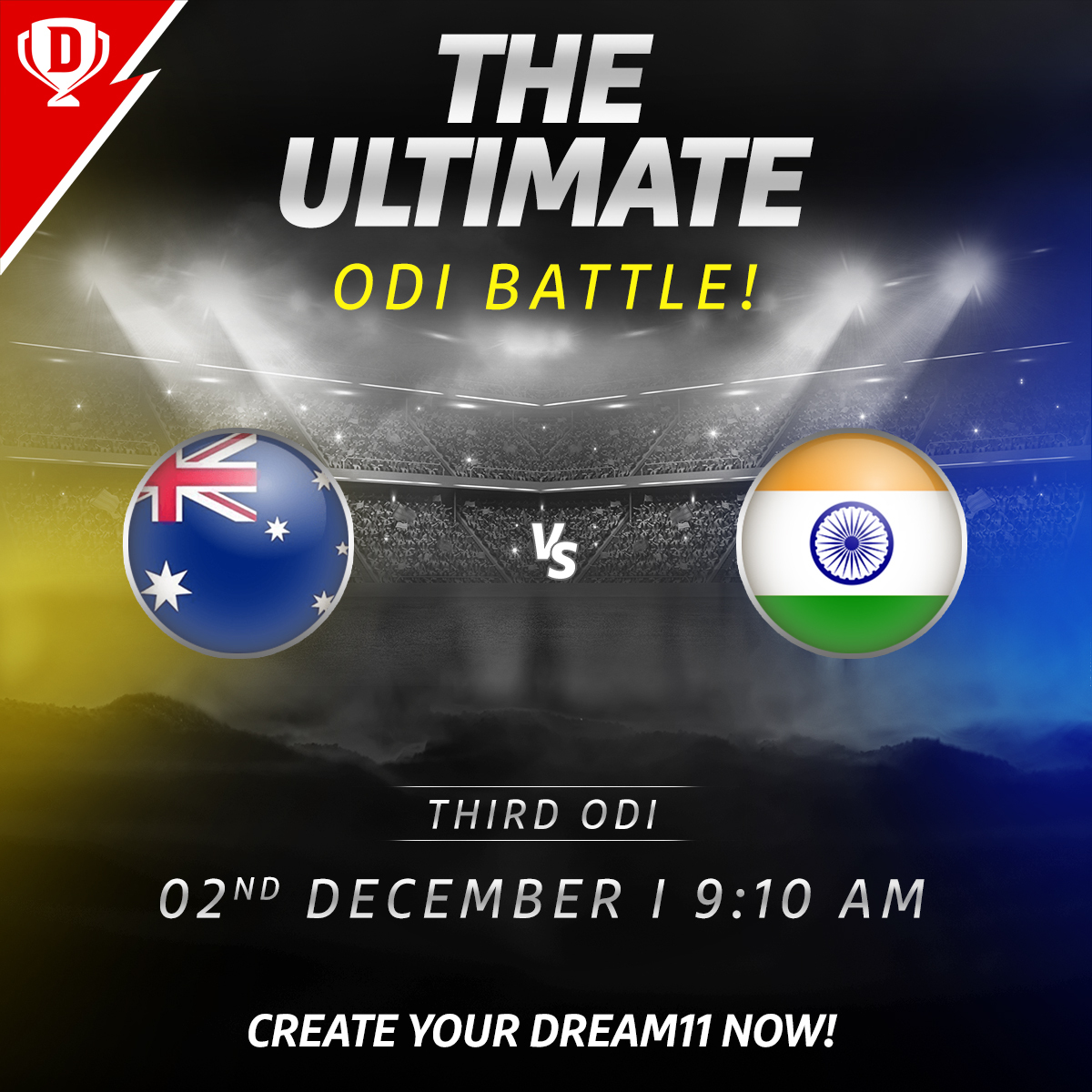 Though the ODI series is lost, #TeamIndia will play for pride against an in-form Australia side tomorrow in Canberra 👌  Download the app and create your #Dream11. Click: . #AUSvIND