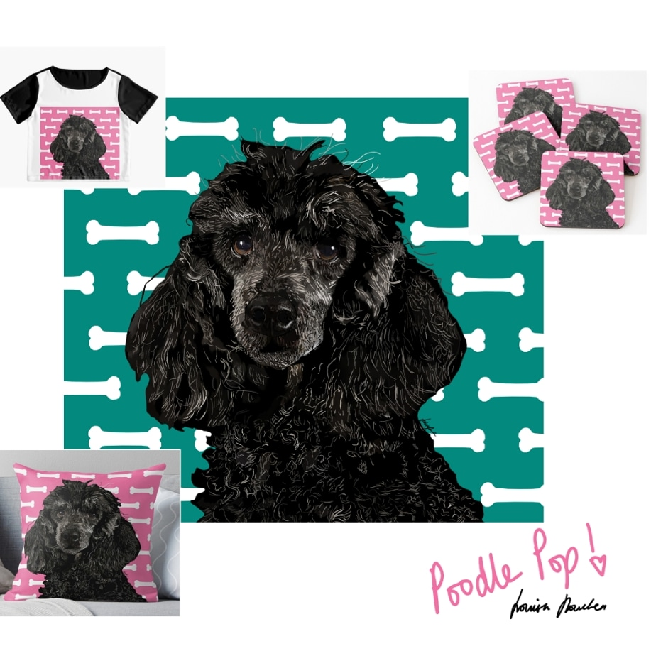 Poodle Pop! Launching the first of my ready-made pet portrait collection 2020. 😀🐶💞🐱💞 Any favourite breeds let me know I will be sure to include them. , #NationalDogShow #giftideas