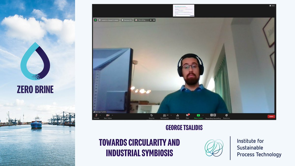 🎙️George Tsalidis of @ISPT_ProcessTec presenting on how ZERO BRINE is reducing the environmental impact of process industries across 🇪🇺 and advancing #circularity 🔵  #CircularEconomy #industrialsymbiosis #wastewater