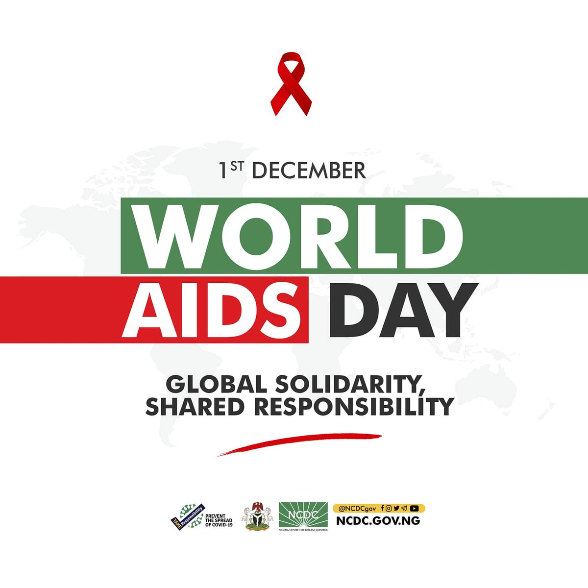 This #WorldAIDSDay, we are reminded that there are 1.9 million Nigerians living with HIV & about 900,000 yet to receive treatment We join our sister agency @NACANigeria to work towards ensuring everyone living with HIV has access to healthcare & treatment without discrimination.