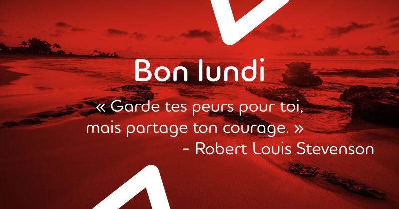 Faites preuve de courage au travail, et vous pourrez inspirer les autres!  #MondayMotivation #Citations #Inspiration #citationsInspirantes #Motivation #LundiMotivation #bonnesemaine #Courage