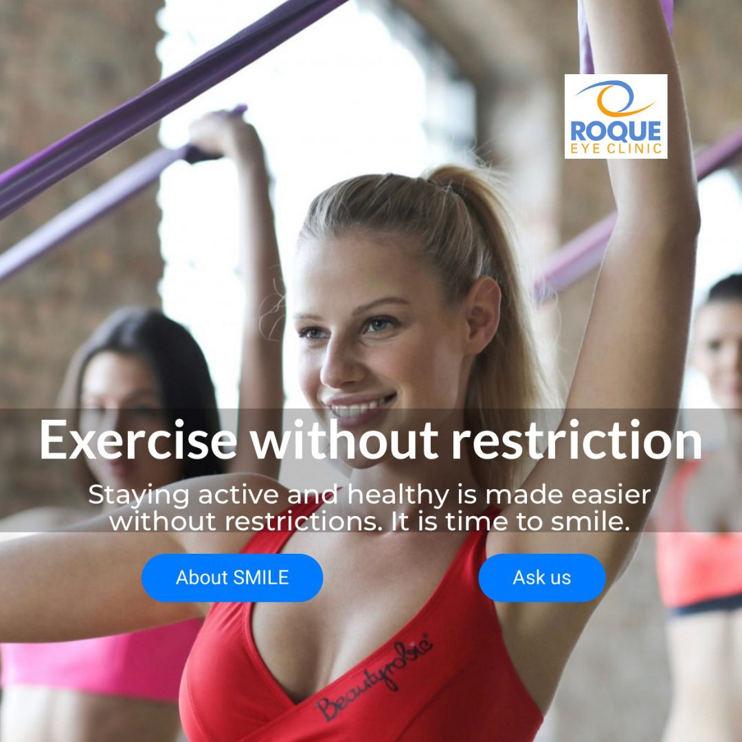 Exercise without restriction. Staying active and healthy is made easier without restrictions. It is time to smile.  Learn more about laser vision correction at .  #Smile #LaserVisionCorrection #GoBeyondLasik #RoqueEyeClinic #EyeComPH #2020in2020