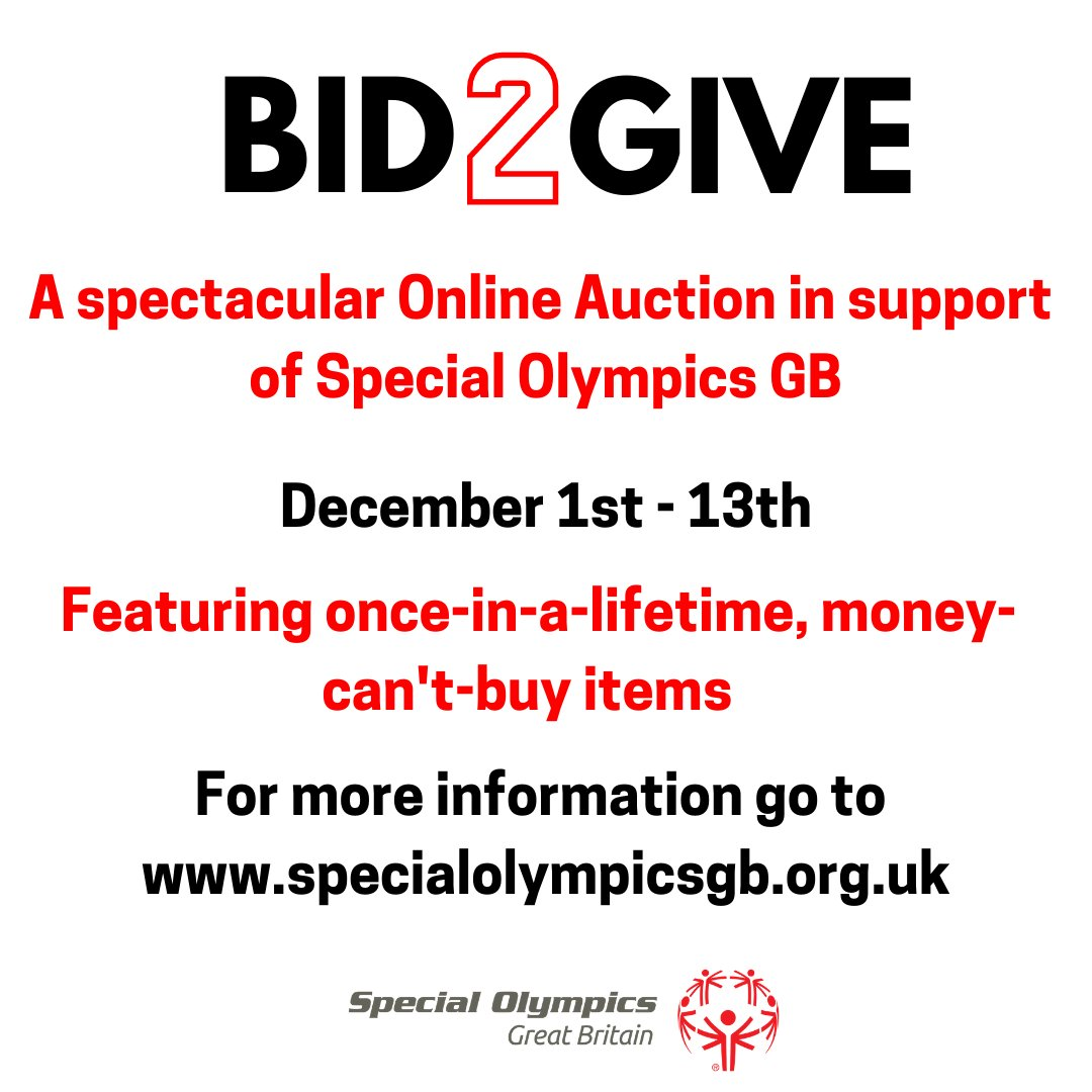 From once-in-a-lifetime, money-can't buy experiences to amazing luxury items & sporting memorabilia, we are excited to announce the launch of our first BID2GIVE online auction to raise much needed funds. For more info click  #BID2GIVE #onlineauction #sport