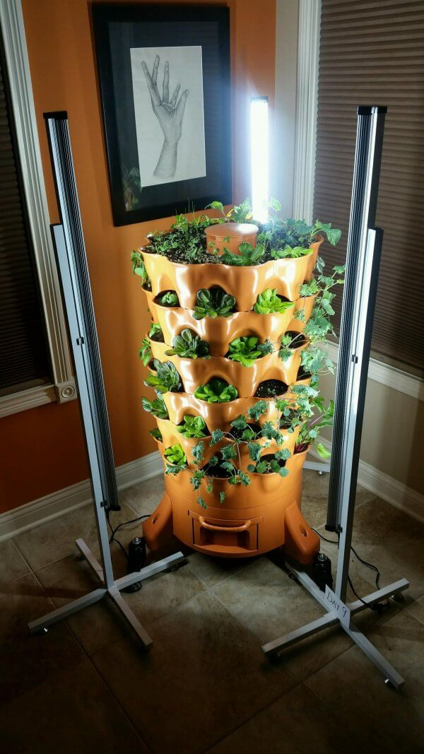 Complete Garden Tower LED Grow Light Kit.   Get it here:   TRENDING! #CheatersNotAllowed #regenerativeagriculture  #dttwtselfieday #December1st
