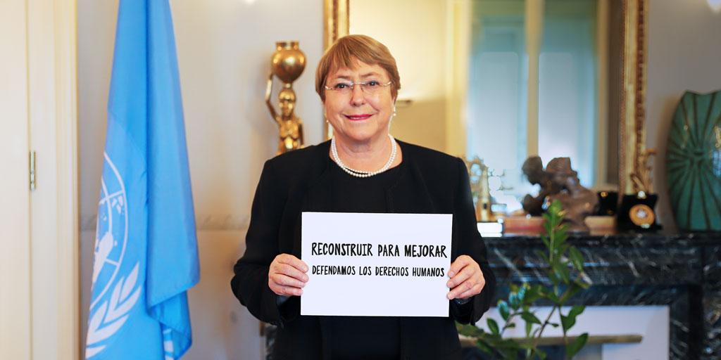 Para este #DíadelosDerechosHumanos, llamo y pido a todo el mundo poner los derechos humanos en el centro de nuestros esfuerzos para #ReconstruirMejor.  Invito a @JosepBorrellF, @aliciabarcena & @DBarenboim a unirse a este desafío, y los insto a todas y todos a hacer lo mismo. https://t.co/jUV2a0Ej39
