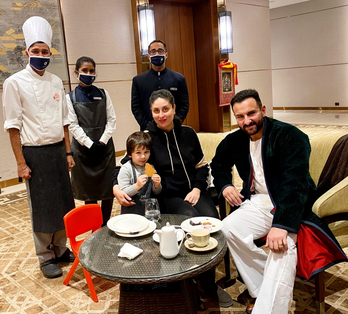 A glimpse of the exclusive culinary session organised by us for Master Taimur Ali Khan and family. Thank you for trusting us with this Mrs Kareena Kapoor Khan and Mr. #SaifAliKhan.   #ShantiMoments #Dharamshala #HyattRegencyDharamshalaResort #KareenaKapoorKhan #TaimurAliKhan