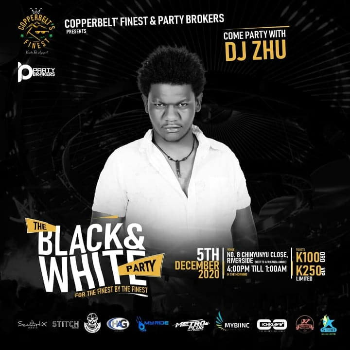 The Copperbelts finest Black and white party is set for this Saturday. Catch me on deck!  #weekendvibes  #HappyDecember https://t.co/9XISc8y2Rr