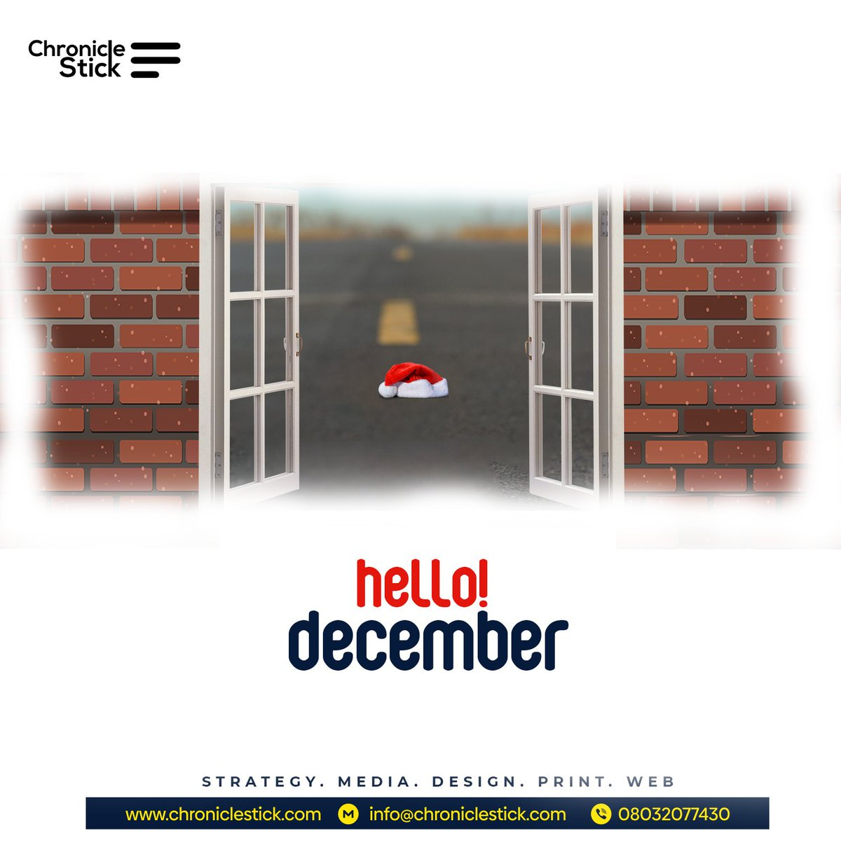 Wishing you a blissful and abundance of joy and happiness filled month ahead.  #chroniclestick #happiness #December1st #digitalagency #digitalmarketingagency
