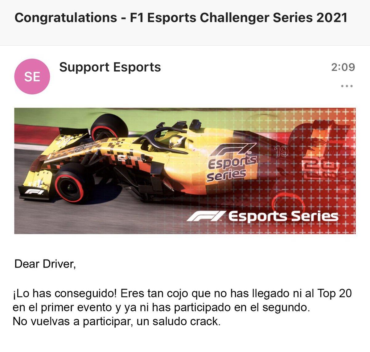¡Lo conseguí!😏 #F1Esports https://t.co/w0Qb6wJwrD