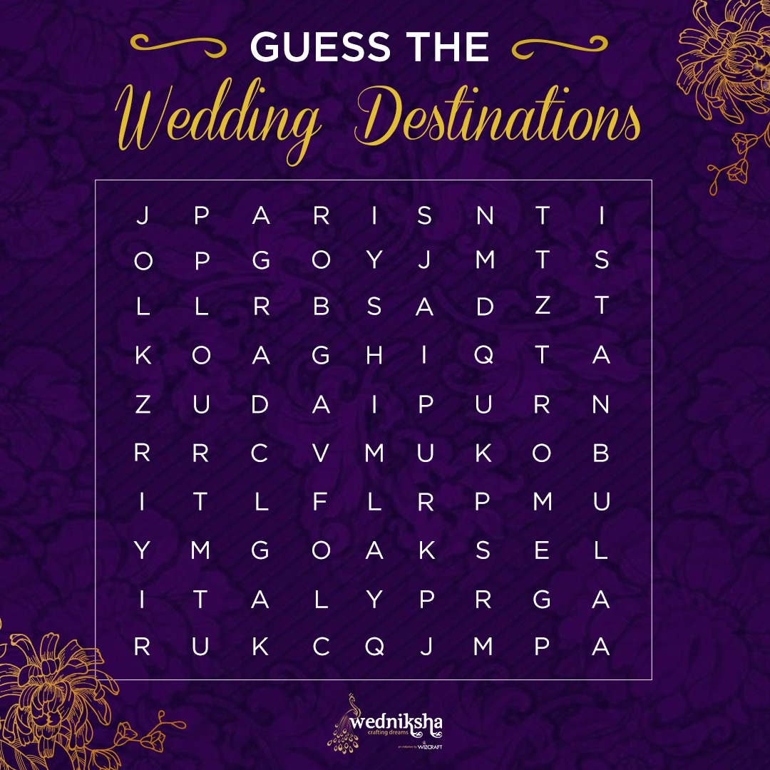 Destination weddings can make your special day turn into a fairytale ✨ How many of them can you spot ?   #WeddingsByWedniksha #wedding #weddingdestination #themewedding #destinationwedding  #luxurywedding #weddingplanners #weddingday #weddingseason #wedniksha #wizcraft