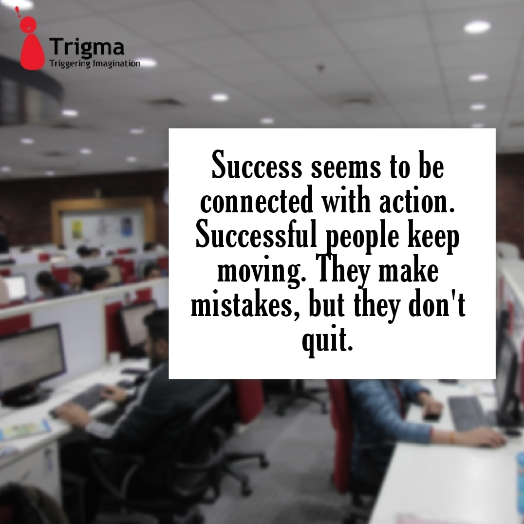 DREAM! More THINK! High CHOOSE!  Best ANALYZE! Twice PLAN!  Perfect BE! Confident WORK!  Hard EXECUTE! Well Then SUCCESS – Is YOURS !!  #thoughtoftheday #thoughts #trending #trigma #triggeringimagination #goodvibes #goals #hardwork #happiness #hr #happyteam #hope #challanges