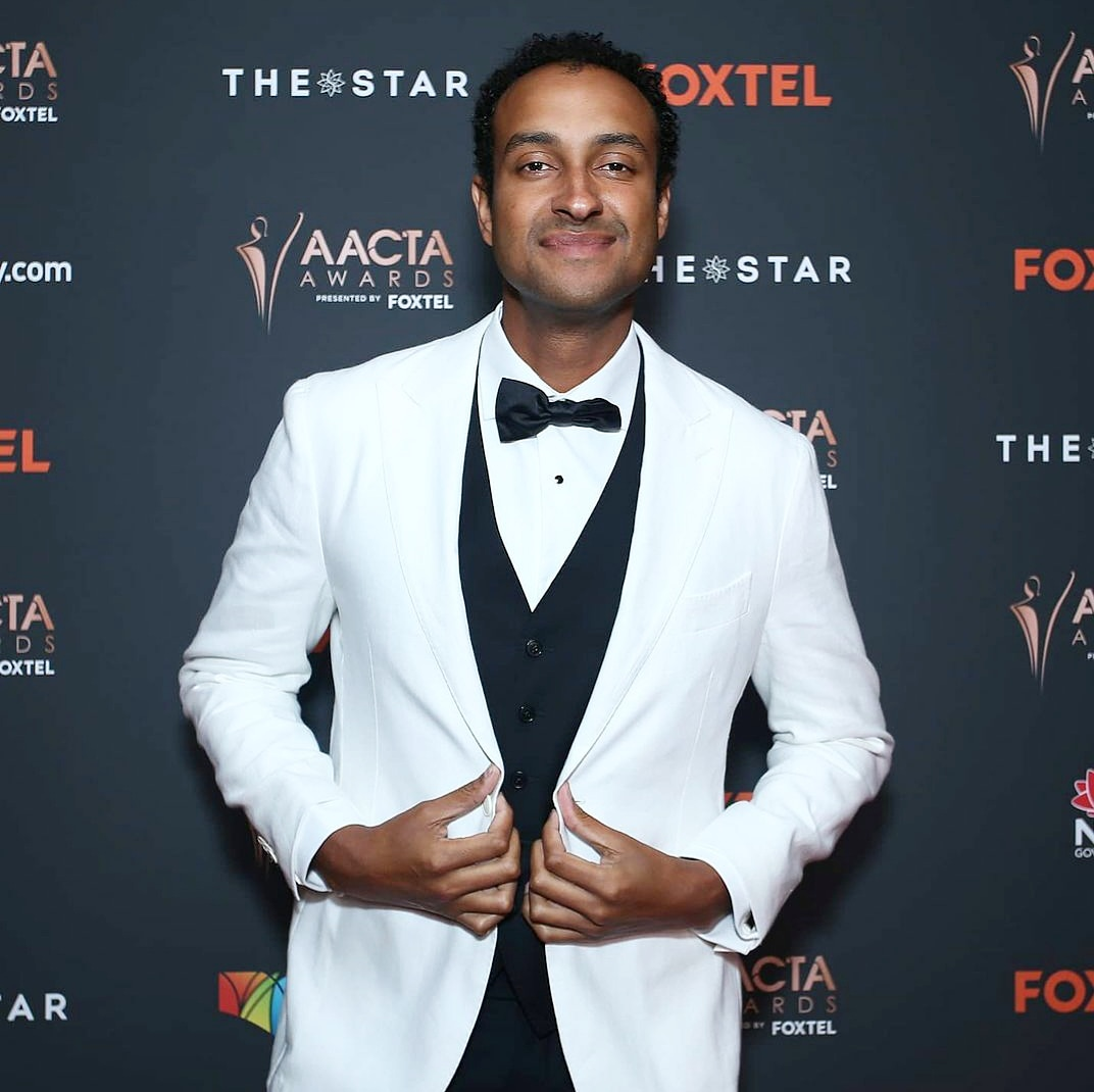 @mattokine gracing the red carpet at the 2020 @AACTA Awards. The Australian Academy of Cinema TV Television Arts Awards, known as the AACTA Awards, are presented annually by the Australian Academy of Cinema and Television Arts (AACTA). #StyledByMarvin / #AACTAs
