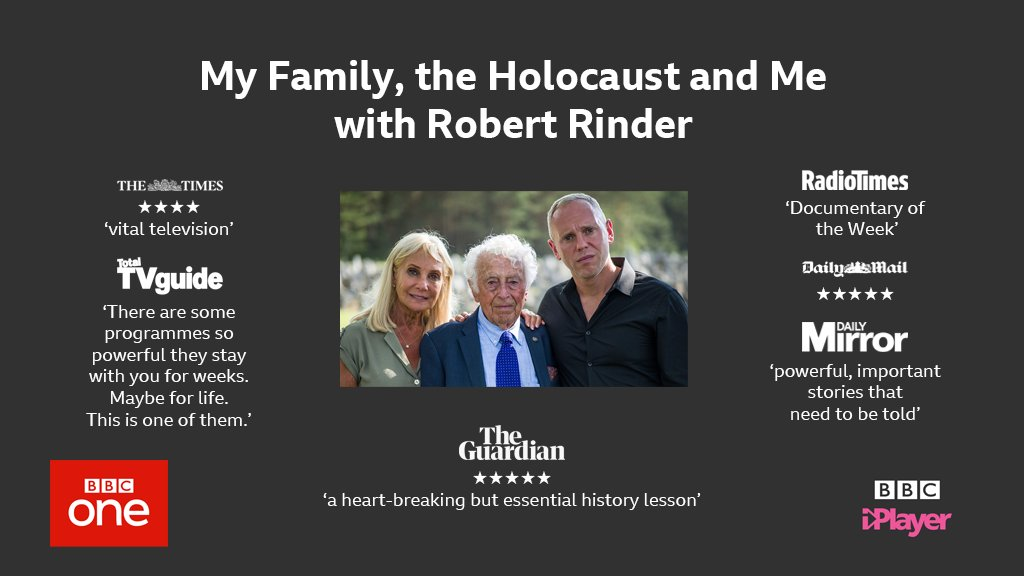 Watch @RobbieRinder's 'heartbreaking but essential history lesson' My Family, the Holocaust and Me on @BBCiPlayer now: