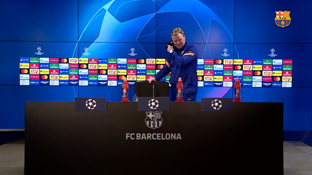 ⚡️ LIVE NOW! ⚡️ @ChampionsLeague press conference with @RonaldKoeman!  📺 Watch: