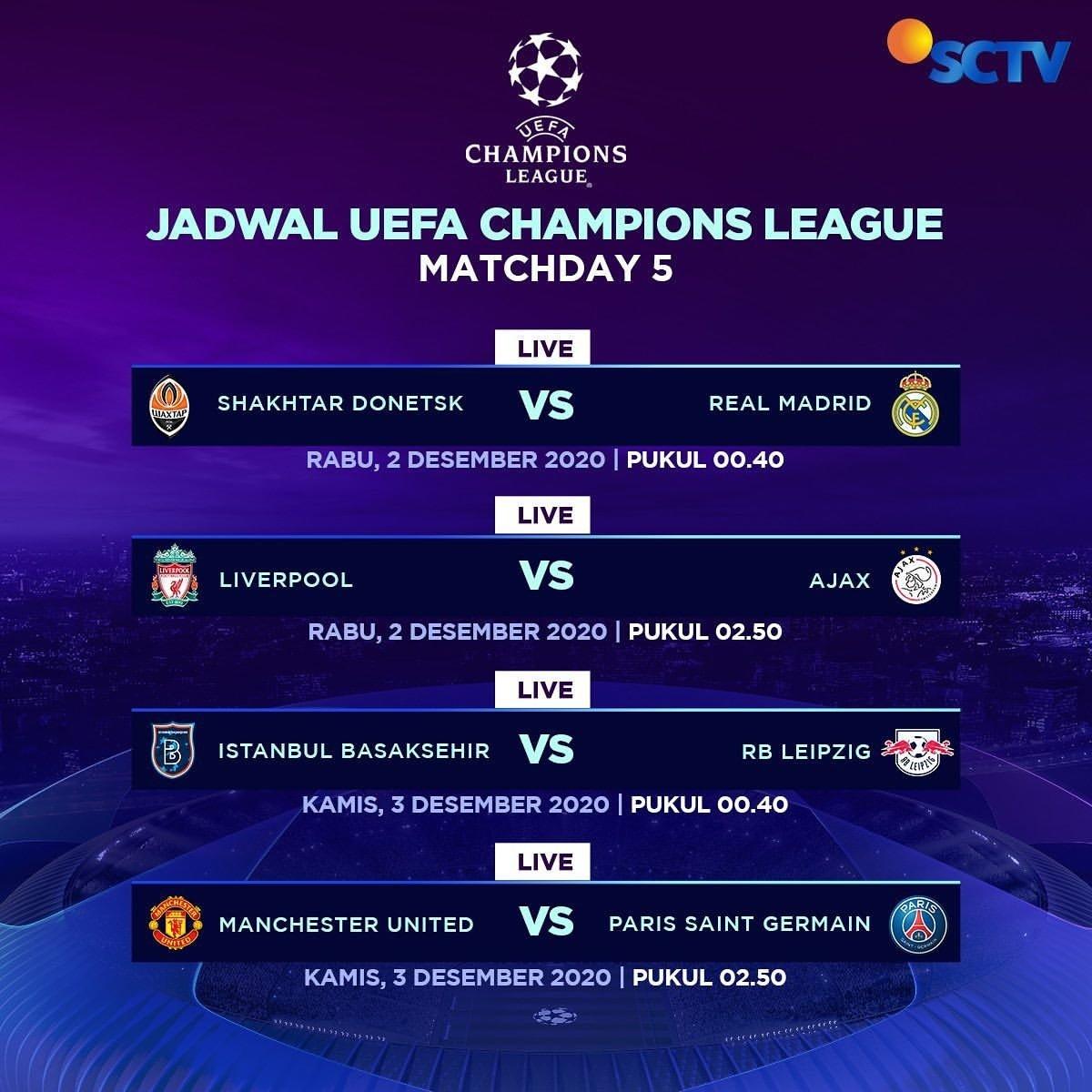 Next Match:  Manchester United vs PSG  Kamis 3 Desember 2020 Kick-Off 03:00 WIB Live on SCTV & Vidio  #MUFC #UCL