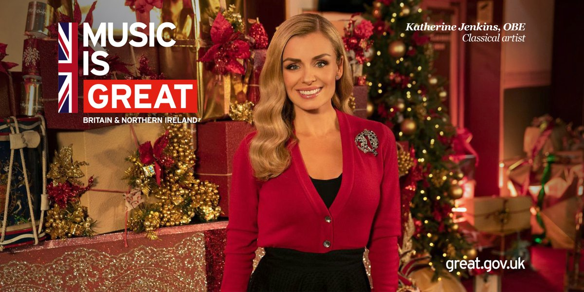 🎶Joy to the world! 🎶  @GREATBritain campaign ambassador @KathJenkins brings some festive cheer to us all with her Christmas Spectacular from the @RoyalAlbertHall –  in cinemas across the country today. 😍   #MusicIsGREAT 🎶🎄🇬🇧