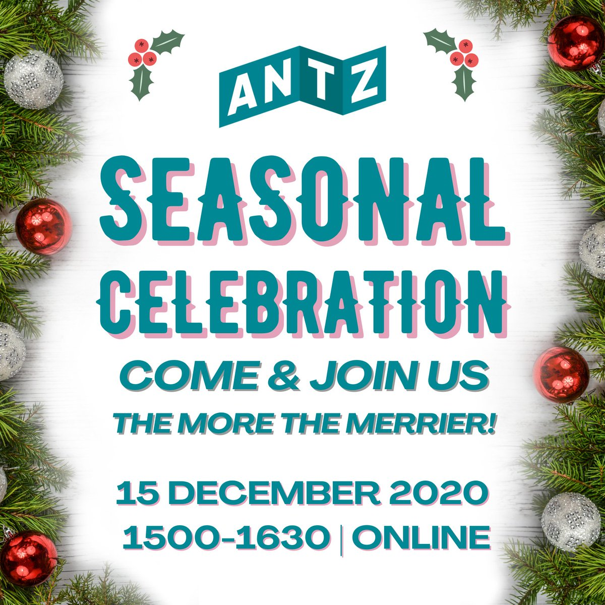 We would love you to join us for our Seasonal Celebration online.  Tuesday, 15 December 2020 1500-1630.  The more the merrier! 🥳🎉🎊🎇  #BookNow at   #fun #online #networking #festive #partytime