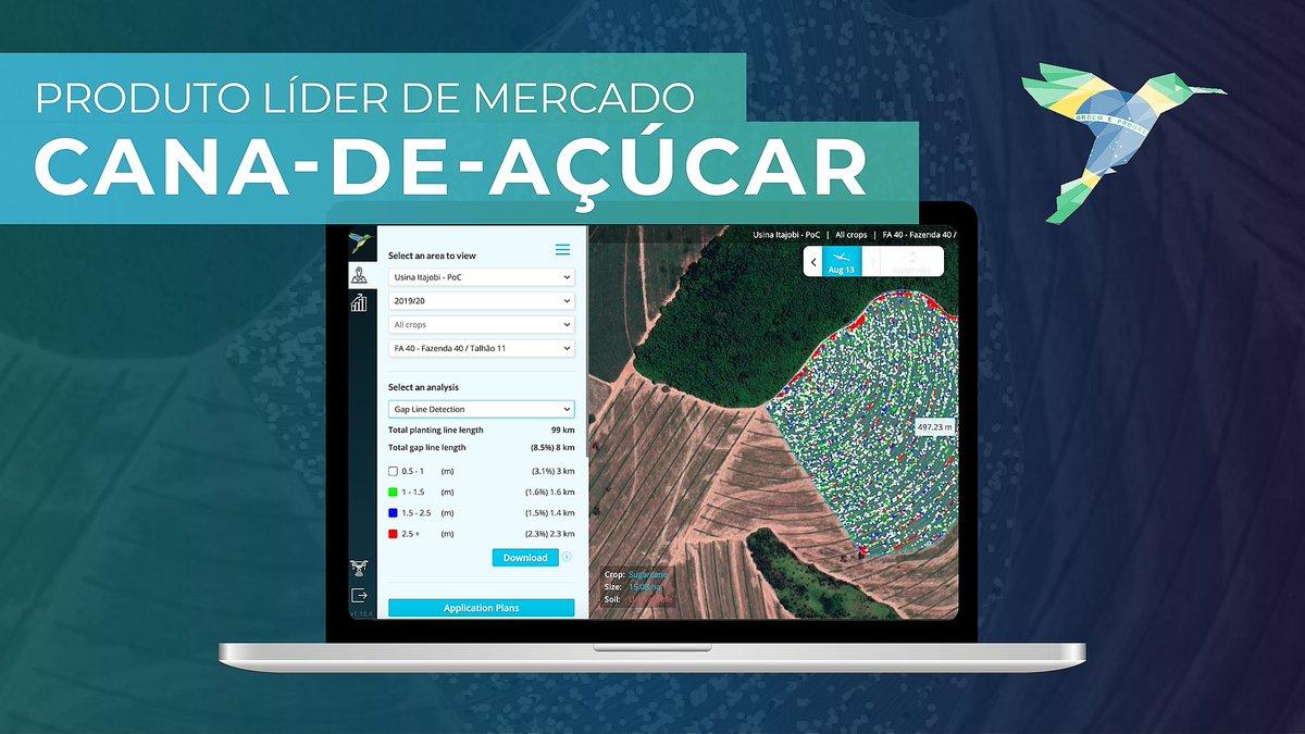 Estamos trabalhando com produtores em 20 projetos de cana-de-açúcar no Brasil, cobrindo um total de mais de 70.000 hectares. Milhões de pixels analisados a 2-4cm/pixel. Entre em contato para mais informações! Marcello Ramos: marcello@hummingbirdtech.com  #sugar #canadeaçúcar https://t.co/US0NOiVPL9
