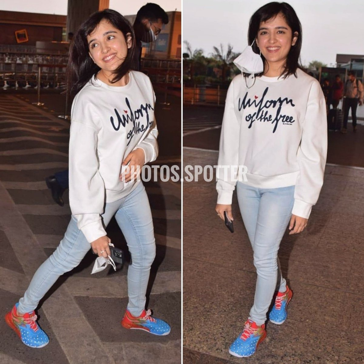 Shirley Setia spotted at the airport as she heads to Hyderabad for the first schedule of her upcoming Telugu film #shirleysetia @ShirleySetia @photosspotter https://t.co/uIWQZhNHNW