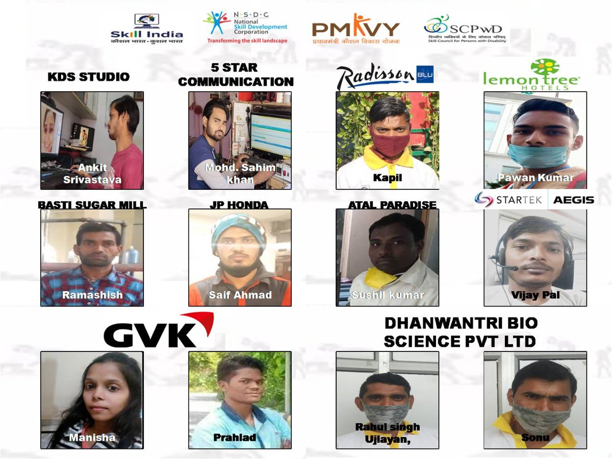 Newly Selected 21 more #pmkvy candidates. 111 NOW and still Counting under Mega Placement Drive exclusively for #Uttarpradesh #Divyangjan #meraskillmeripehchan #IndiawillWin #Hunarhaitohkadarhai  @DrMNPandeyMP @MSDESkillIndia @NSDCINDIA @SCPwD @socialpwds