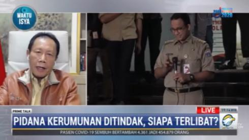 #PrimetalkMetroTV Sutiyoso (gubernur DKI Jakarta 1997-2007): ketegasan aparat untuk melakukan sanksi terhadap pelanggar protokol kesehatan harus tegas. Tapi harus ada juga gerakan paralel pemerintah daerah di seluruh Indonesia untuk melakukan komunikasi kepada masyarakat.