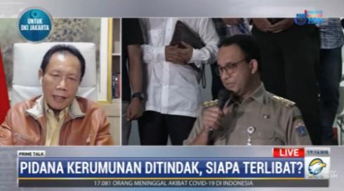#PrimetalkMetroTV Sutiyoso (gubernur DKI Jakarta 1997-2007): menjaga jarak kerumunan di Jakarta itu lebih sulit dari yang lain karena daerahnya sempit, penduduknya padat, dan dari survei penduduk mencapai 20.000-25.000 orang per km2. #MetroTV20 streaming: