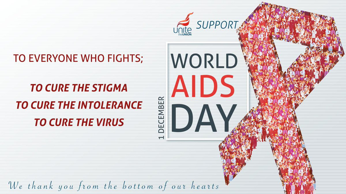 #RockTheRibbon and show your support ⬇  Today is #WorldAIDSDay, help raise awareness in your workplace and raise vital funds for @NAT_AIDS_Trust  Help end new transmissions, end stigma and end the inequalities faced by people living with HIV - details: …