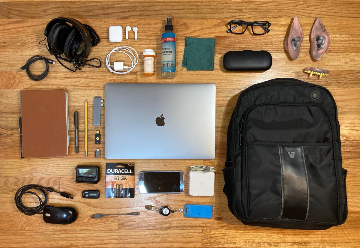 Being prepared starts with your #oncall bag. You should have everything you need to manage an incident and spares for what could break. Reply with a photo or description of your kit. #DevOps