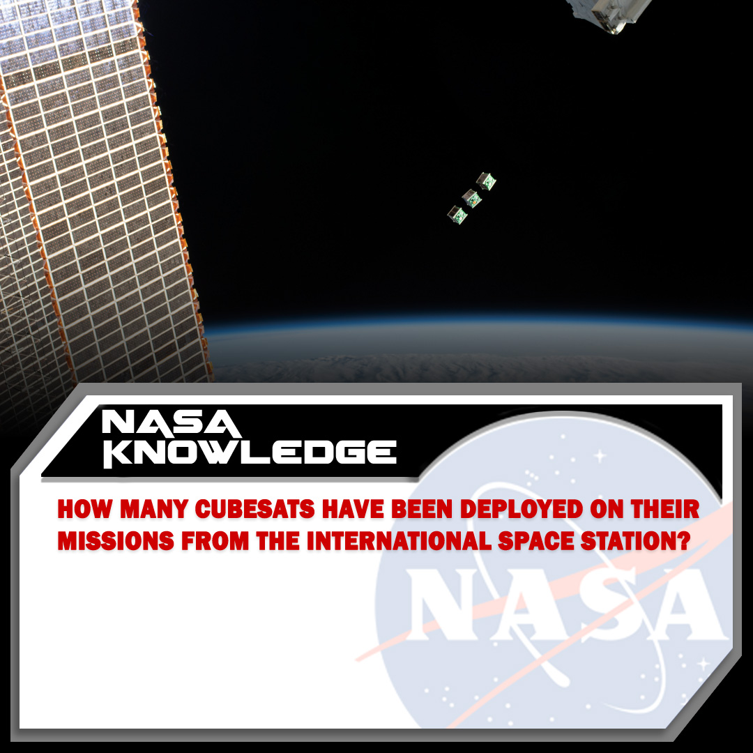 The @Space_Station is a huge satellite that's been in orbit around the Earth for more than twenty years; do you know how many tiny CubeSat satellites have been launched from the station in that time?