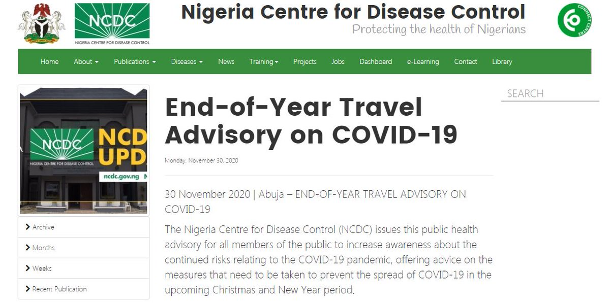📢#NCDCUpdate #COVID19 does not spread on its own, it spreads when people move around. As the Christmas holiday draw near, #TakeResponsibility to protect yourself & loved ones. Our latest public health advisory 📜 ncdc.gov.ng/news/276/end-o…