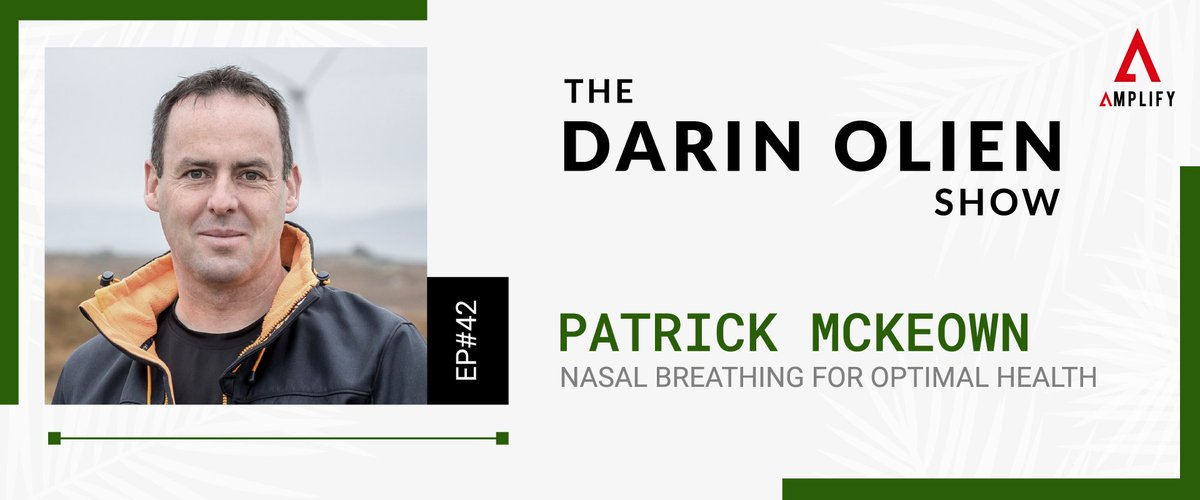 If you suffer from asthma or sleep apnea, or have a child that does, you need to learn about nasal breathing with Patrick McKeown on the latest episode of The Darin Olien Show. Out NOW!