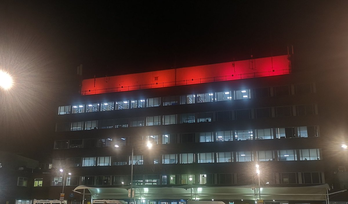 Today is World Aids Day and we have lit up York Hospital in recognition of all those who have lost their lives, and those across the globe who continue to do so #WorldAIDSDay
