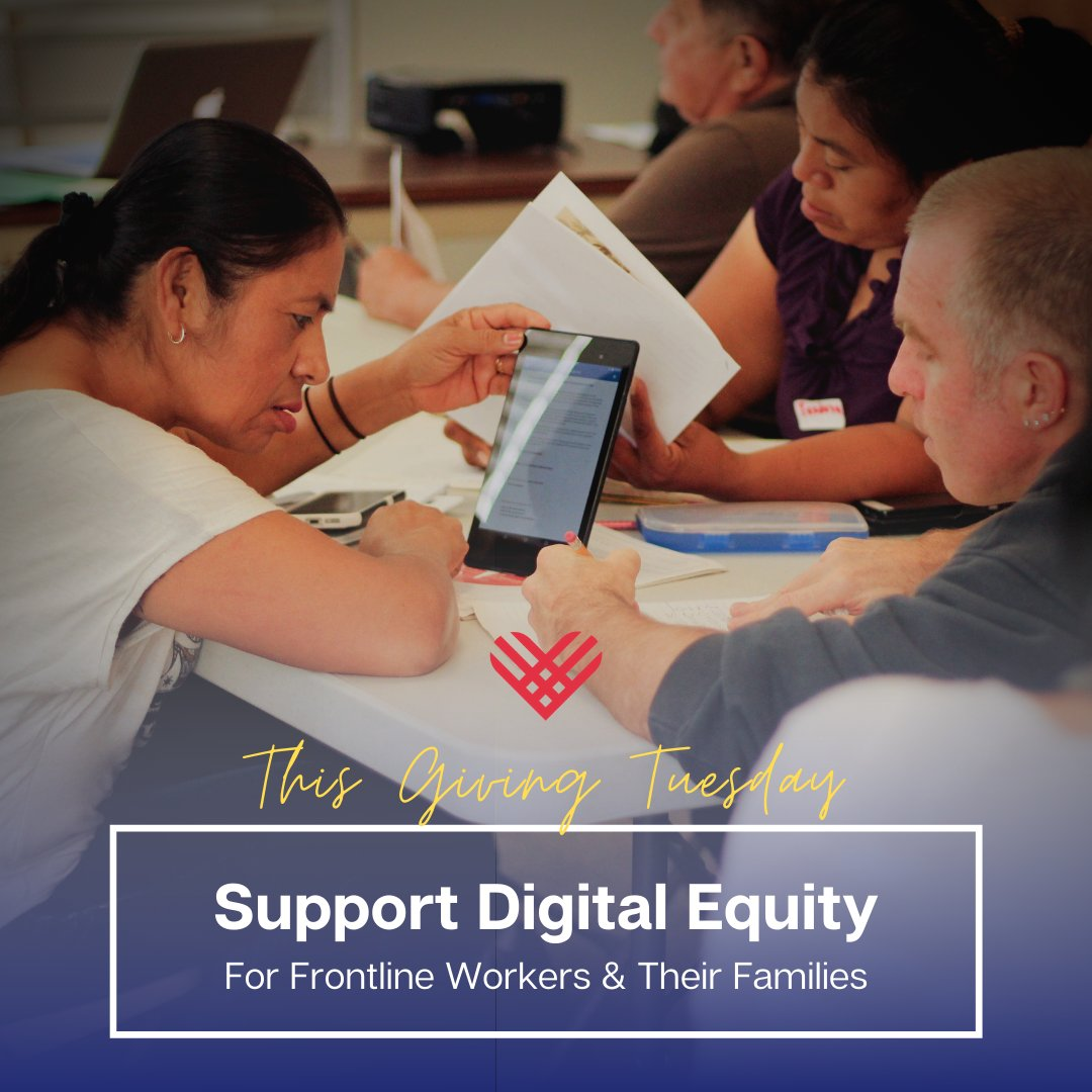 This #GivingTuesday, let's get #internet, #devices and #digital skill-building opportunities in the hands of frontline property service workers & their families. Support our campaign for #DigitalEquity: