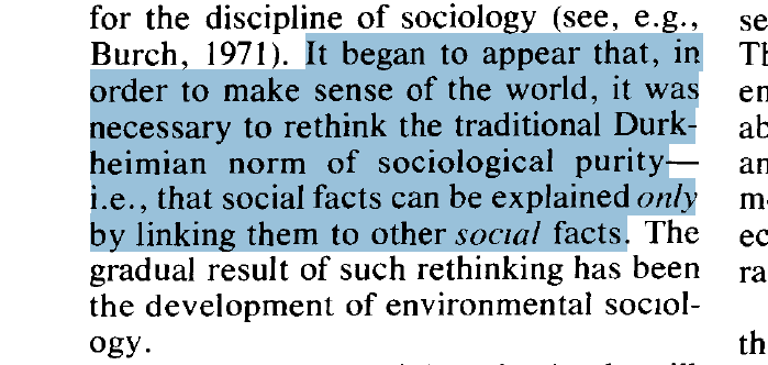 @MalcolmAE @akjorgenson @EricKlinenberg @_ppmv @AnnualReviews @nyu_ipk @LizKoslov @tdietzvt By the late 70s, Catton and Dunlap had laid out a compelling case to reconsider sociologys founding notion of social facts. Then Reagan won the White House, stripped off the solar panels Carter had installed, and mainstream soc ignored the challenge. jstor.org/stable/2770231…