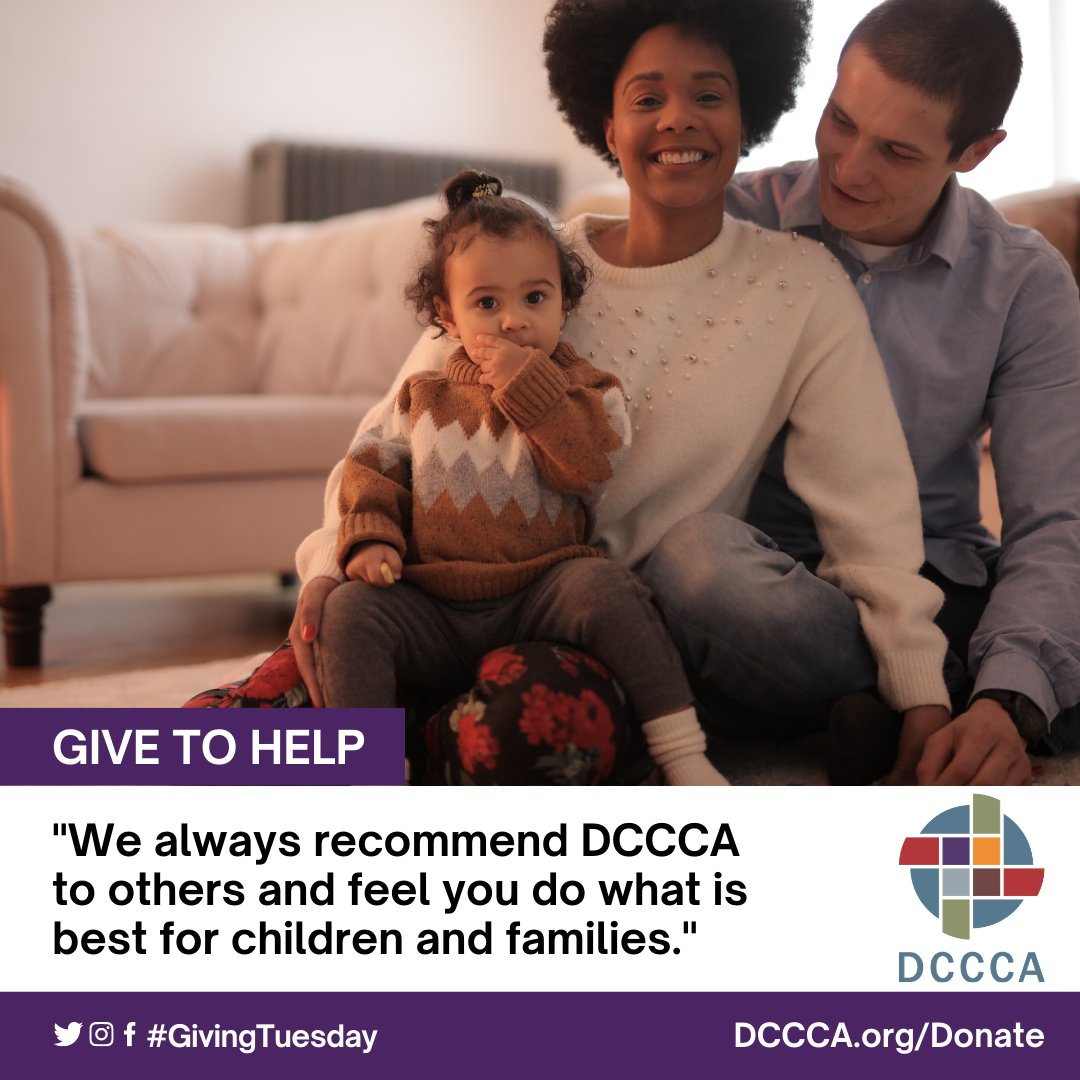 Help DCCCA provide for vulnerable children in need of safe homes and nurturing families through our fostering and adopting program.  #GivingTuesday