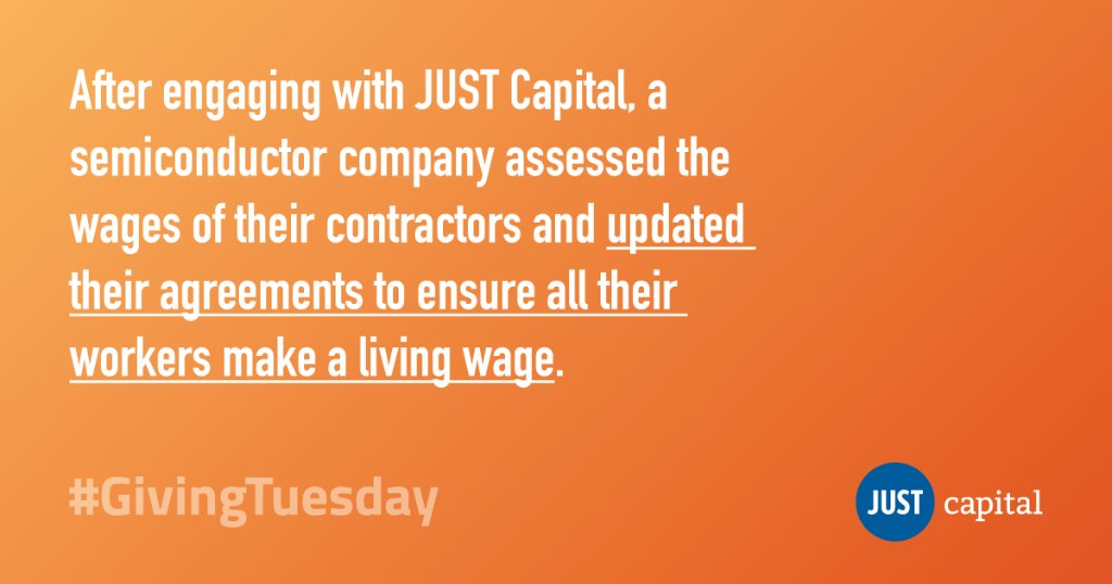 #JUSTimagine an economy where everyone makes a fair, #livingwage. Help JUST inspire and incentivize corporate America to do right by their workers. Donate today. #GivingTuesday