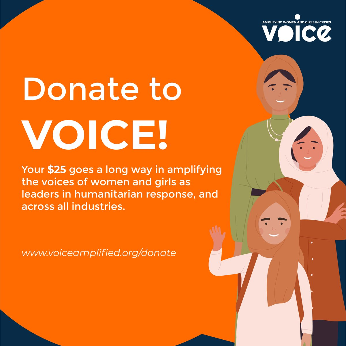 VOICE requires private donations to continue our work of amplifying the voices of women and girls around the world. Become a giving partner of VOICE this #GivingTuesday. Gifts of any amount are truly appreciated!  #AmplifyHerVoice #LOUDER #AreYouListening #BelieveSurvivors