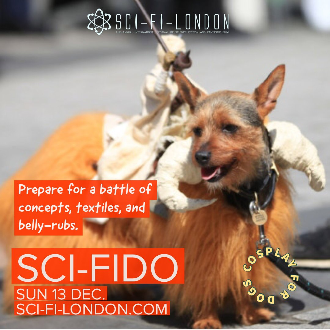 Sci-Fido is upon us! The cosplay for dogs is going 2020 cyber 🤖  Enter your dog into Sci-Fido's first-ever online dog show! Send in pictures and get involved here -  - donations raised will help us rescue and rehome dogs in need  #dogshow #scifido #sfl2020