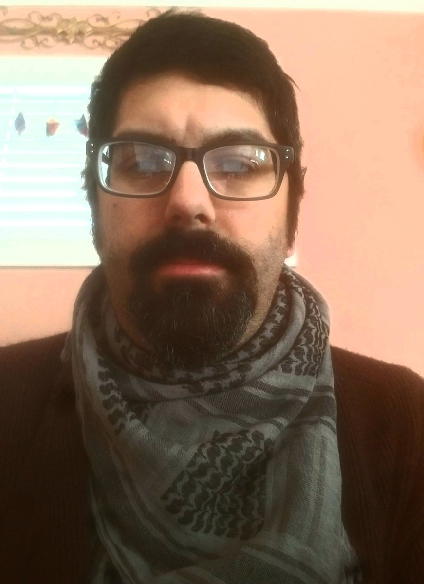 Its chilly today in SC.  I get to wear my keffiyeh.  Nm the scowl. That's just what my face looks like when I try to figure out these new fangeled cell phone thingies... #tuesdaymotivations  #tuesdayvibe