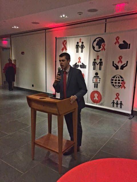 Seems like eons ago. Accepting an award on behalf of @GMHC at #WorldAIDSDay Day in Hartford, CT in 2016. #WorldAIDSDay2020