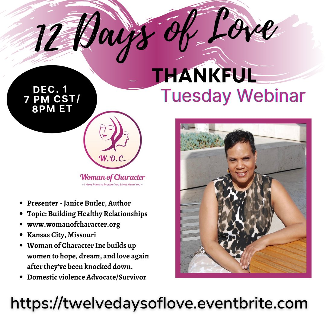 IT IS A THANKFUL TUESDAY FREE WEBINAR  #selflove #selfcare #relationshipgoals #mentalhealthawareness #blackmentalhealthmatters #BlackLivesMatter #tuesdaymotivations #12DaysOfChristmas