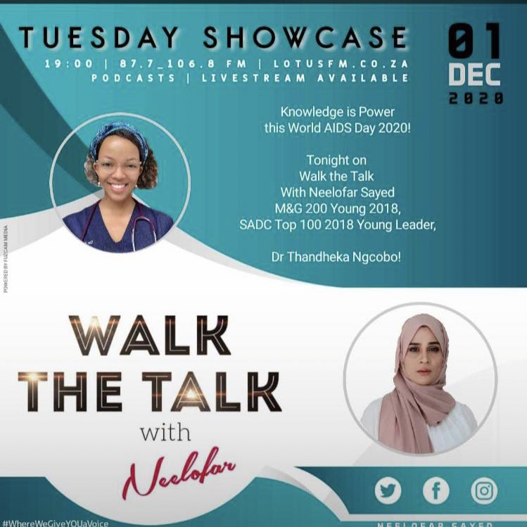 Tonight on walk the talk @Lotusfm we chat with @Dr_teedkfuze about HIV prevention.  Please DM your questions  #WorldAIDSDay #WorldAIDSDay