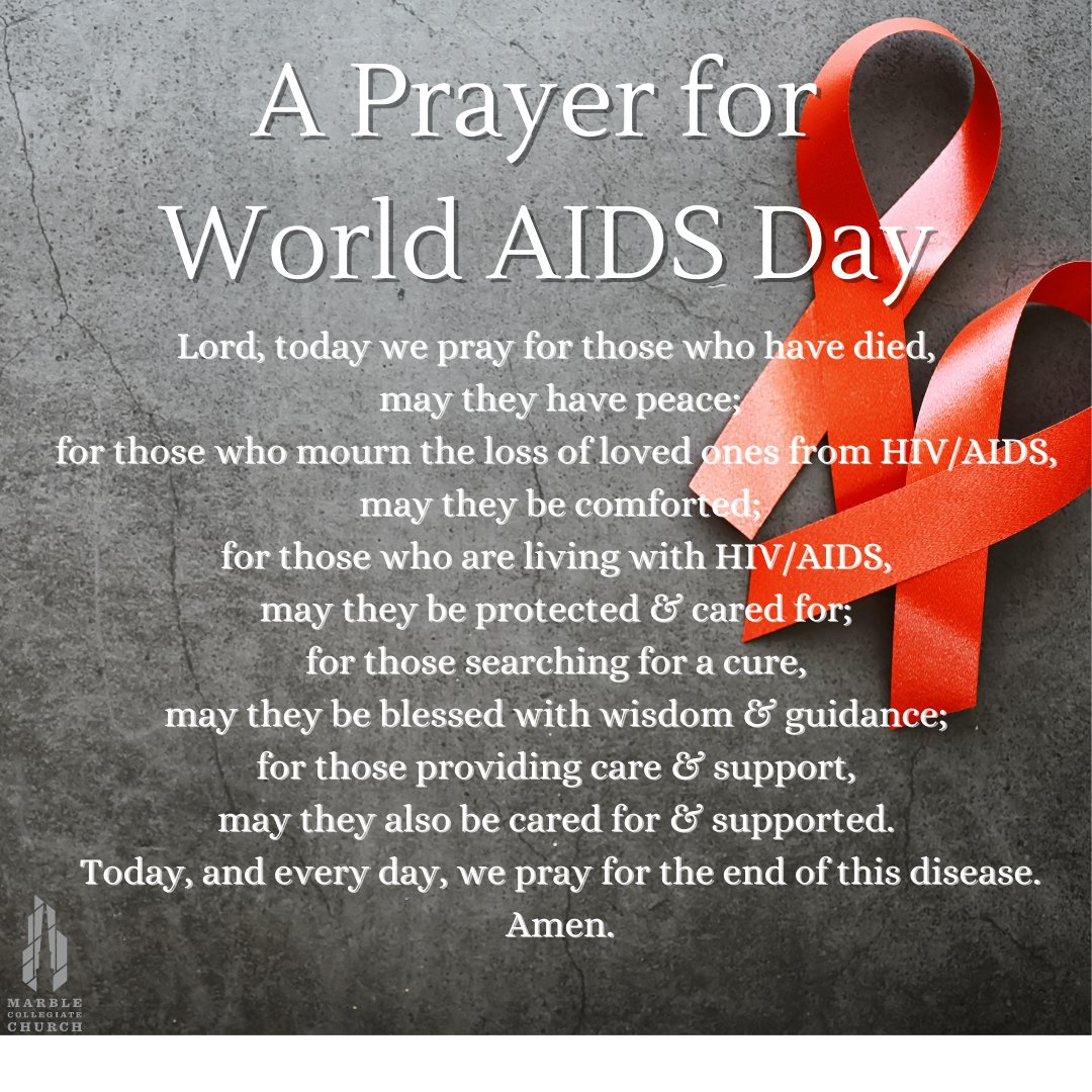 Today we share this prayer for #WorldAIDSDay2020. We hold all directly effected by this disease in our hearts & prayers today. #WorldAIDSDay