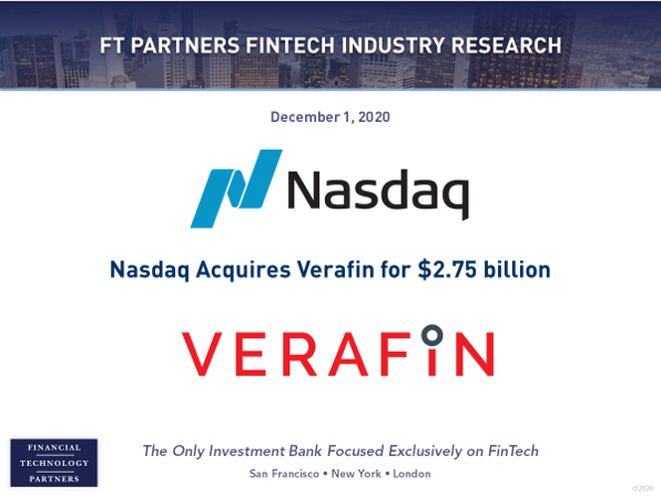 .@Nasdaq acquires financial crime management solutions provider @Verafin for $2.75 billion - Verafin expects to generate over $140 million in revenue in 2021 https://t.co/vilm1NUpFA #FinTech #FraudDetection https://t.co/v3RwNwS58j