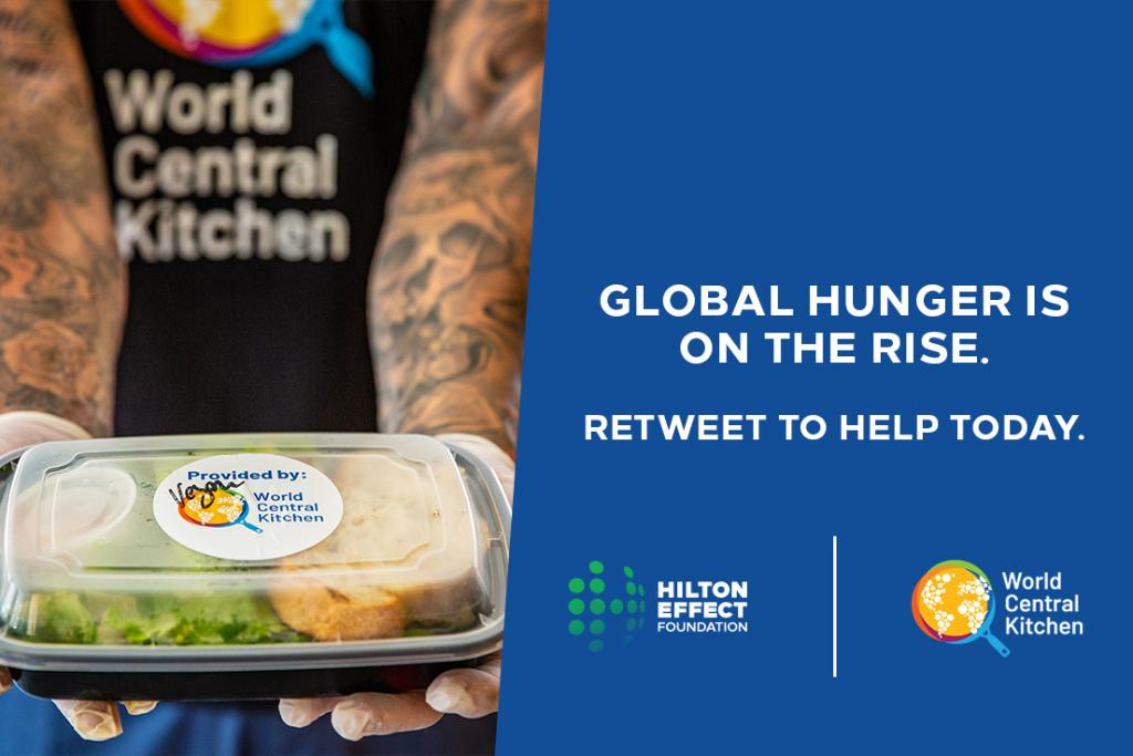 It's #GivingTuesday and YOU can make a difference! For every #retweet within the next 24 hours, the Hilton Effect Foundation donates $1 to @WCKitchen, up to $100K. Help provide fresh, chef-prepared meals to communities in need. More info at:  #HiltonEffect
