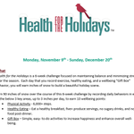Image for the Tweet beginning: Our Health for the Holidays