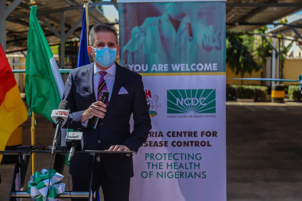 Supporting Nigerias public health diagnostic capacity with reliable power supply is critical to manage the ongoing #COVID19 pandemic & strengthen response to infectious diseases outbreaks in-country -Mr. Alexander Borgis-Gomes, Deputy Head of Delegation of @EUinNigeria