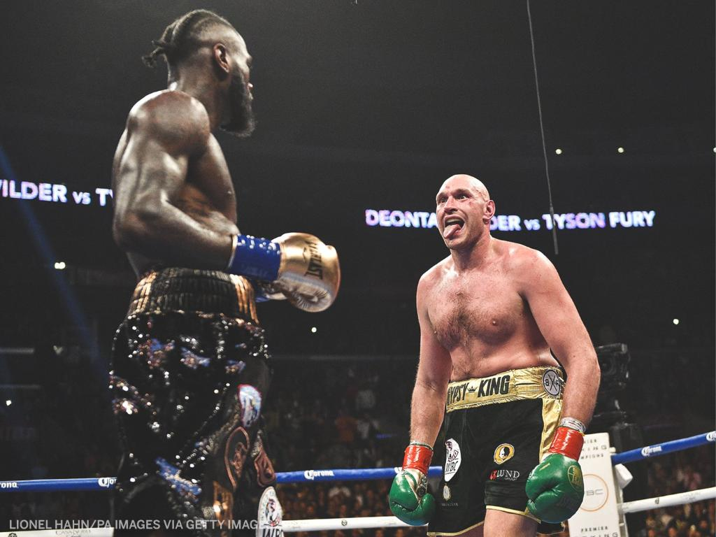 Two years ago, @Tyson_Fury and @BronzeBomber went the distance to a split decision draw in their first fight.   Who would win Fury-Wilder 3? 👀  (via @ESPNRingside)