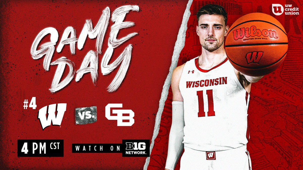 The Badgers are back in action 💯  Get up, cause it's GAMEDAY‼️  #OnWisconsin » #Badgers